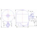 Фильтр 900мм Kripsol Balear BL 900 + насос Kripsol KS300 (комп. 30 м3/ч)