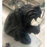 Голова Пантеры черный мрамор
