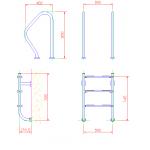Лестница  без поручней 3 ступени Flexinox ESC PT
