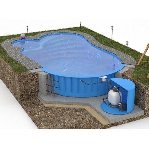 Установка каркасных (сборных) и композитных бассейнов
